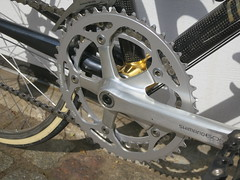Shimano 600 crankset with Stronglight chainrings. Original BioPace rings available. (bjornsundstrom) Tags: sweden miyata stockholmsln ct3000