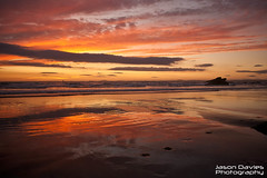 Red sky at night... (Jason Davies Photography) Tags: sunset sea sky beach water clouds canon reflections landscape outdoors photography coast seaside sand rocks westwales colours outdoor coastline ripples redsky pembrokeshire broadhaven wetsand beachscape pembrokeshirecoast pembrokeshirewales canonphotography sigmalenses visitwales canon1000d sigma1850f2845 visitpembrokeshire broadhavensunset jasondaviesphotography