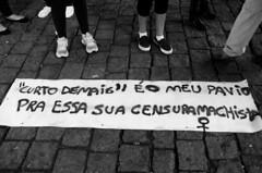 """ 'Curto Demais""  o meu pavio para essa sua censura machista."" (SamNeves1993) Tags: brazil woman white black branco brasil avenida women mulher pb rape preto sp brazilian feminism mulheres machismo cartaz paulista feminismo manifestao feminista temer patriarcado estupro"
