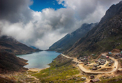 Tsomgo Lake, Sikkim (FoxbatOne) Tags: blue india mountain lake nature water beautiful clouds scenery glacier east sikkim bharat glacial changu tsomgo incredibleindia