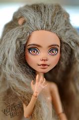 Howleen Wolf (theugliestwife) Tags: monsterhigh mattel howleenwolf howleen wolf custom ooak handmade artdoll doll art dollmakeup makeup repaint theugliestwife