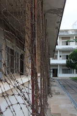 Tuol Sleng Genocide Museum, Phnom Penh (asitrac) Tags: travel history museum scenery asia cambodia southeastasia scene historic torture phnompenh kh genocide razorwire s21 indochina kampuchea tuolslenggenocidemuseum phnompenhdistrict khmerrougeregime asitrac