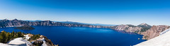 Crater Lake Pano (1 of 1) (nathannamanny) Tags: travel panorama lake snow nature oregon landscape photography nationalpark hiking like hike adventure explore neature optoutside