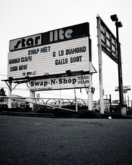 Swap meet sign () Tags: street city light urban usa sign shop america shopping movie grit photography star drive washington interesting highway theater hand view state image good united picture n gritty neighborhood photograph 99 swap second americana products local states roadside items googie vignette meet starlite southtacomaway
