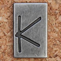 Pewter Ransom Font K (Leo Reynolds) Tags: k canon eos iso100 letter 60mm f8 kkk oneletter letterset 0ev 025sec 40d hpexif grouponeletter letterpewter letterpewterransom xsquarex xleol30x xratio1x1x xxx2012xxx
