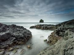 Seascape - Reykjanes peninsula. (Gulli Vals) Tags: trip travel blue sky cliff white seascape green water rock