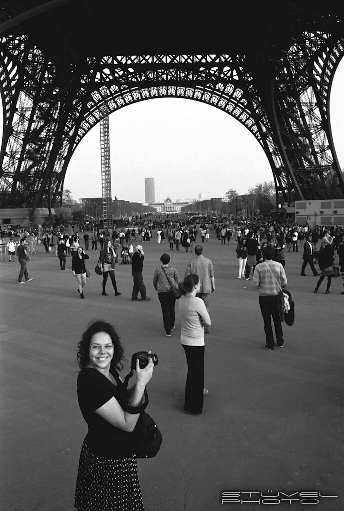 Marit at the Eiffel Tower