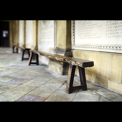 HBM - Trestle Edition (PhotoJunket) Tags: trestle cambridge bench memorial cloister pembrokecollege hbm benchmonday