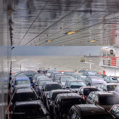 the boat is full (gerrit de boorder) Tags: waddenzee veerboot holwerd gdebfotografeert april2012 vakantieopameland