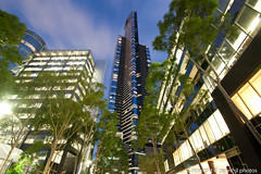 Eureka Tower (garethjl) Tags: city light building tower lights low australia melbourne victoria southbank vic cbd residential eureka tallest