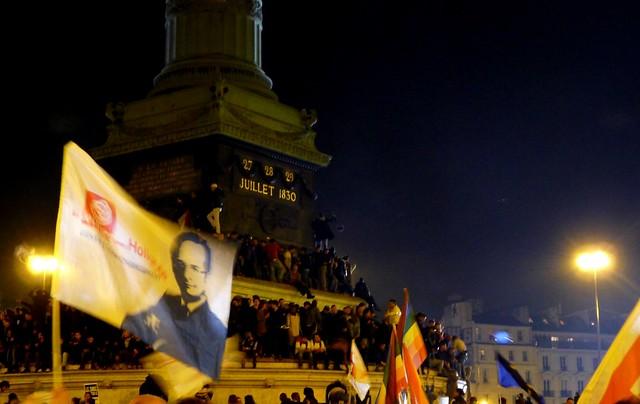 Bastille, victoire de François Hollande le 6 mai 2012
