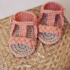 Braided Gladiator Sandals (mon petit violon) Tags: boy orange baby girl shoes pattern sandals patterns crochet crib easy slipper sandal slippers booties tutorial gladiator bootie