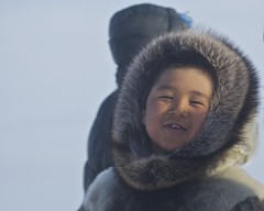 _MG_2497 (Clare Kines Photography) Tags: canada race fur child north arctic portraiture inuit nunavut dogteam dogsled sealskin arcticbay skinclothing nunavutquest
