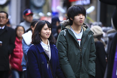 Young couple in Myeongdong (CyprienR) Tags: korea seoul 2012 myeongdong coreenne