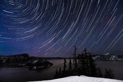 Crater Lake Star Trails (phil_mcgrew) Tags: longexposure nightphotography oregon nationalpark sca craterlake startrails
