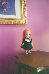 Zelda's new look (Her Name is Victoria Winters) Tags: orange film dolls witch custom commission emerald enchanted saran reroot eme naturaclassica