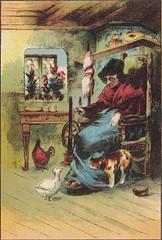 Märchenquell / Bild 3 (micky the pixel) Tags: illustration vintage buch book katze ente childrensbook livre andersen webstuhl kinderbuch märchenbuch märchenquell dashässlichejungeentlein bagelverlag