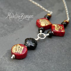 """Deco Rocks Red necklace • <a style=""""font-size:0.8em;"""" href=""""https://www.flickr.com/photos/37516896@N05/7251230610/"""" target=""""_blank"""">View on Flickr</a>"""