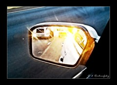 Sunshine on my shoulder (d LR Images (formerly Darrenlr)) Tags: road trip travel light sun window glass car sunrise lights mirror highway traffic image 21 song rear commute reflective vehicle theme trucks behind sideview weekly android 52 johndenver dailydrive viewfromawindow 2152 52weeks2012 sunshineonmysholder