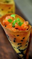 Salmon Cornet (Rod Waddington) Tags: food restaurant salmon cornet
