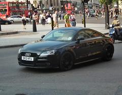 Audi TT (kenjonbro) Tags: uk england black london trafalgarsquare tt audi coupe charingcross sw1 hs10 kenjonbro fujihs10 ek12kfu