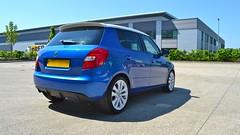 Fabia vRS In The Sun (UKInfluence) Tags: blue 2 white nikon d mark wheels v mk2 rs mk alloy skoda fabia 3100 vrs d3100