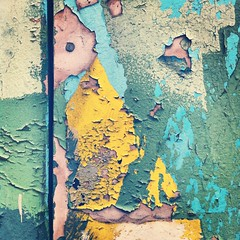 (Catherine Cachia) Tags: street old city pink blue urban toronto abstract green geometric beautiful yellow wall square peeling paint decay weathered bsquare