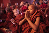 Monks - Bagan, Myanmar (Maciej Dakowicz) Tags: sea pagoda asia southeastasia burma buddhist prayer monk buddhism myanmar bagan novice
