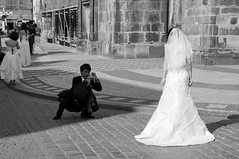 Just smile, we're married now. (steff808) Tags: street wedding blackandwhite bw blancoynegro calle nikon prague noiretblanc prag praha praga czechrepublic mariage rue matrimonio ceskarepublika republicacheca d90 republiquetchèque nikond90 nikon1685