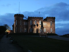 Inverness Castle at dusk (Bagpipes and Beer) Tags: scotland edinburgh glasgow whisky standrews lochness inverness unitedkingdon craigellachie scotchwhisky