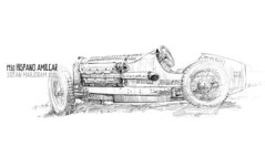 Hispano Amilcar (Stefan Marjoram) Tags: art classic car pencil vintage french sketch drawing hispano v8 prescott hillclimb vscc amilcar lavieenbleu