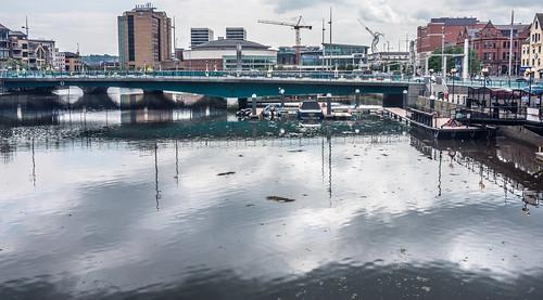 Queen Elizabeth II Bridge As Seen From The Lagan Weir (Belfast)