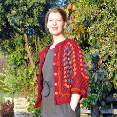 Granny shrug (open) (Kiwi Little Things) Tags: handmade crochet cardigan shrug grannysquare