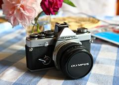 Vintage Olympus OM-2n (Lilla~Rose) Tags: film analog vintage 50mm olympus analogue filmcamera zuiko om2 vintagegear olympusom2n zuikolens zuiko50mmlens zuikoautos50mmlens