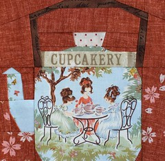 TeaKettle (PatchworkPottery) Tags: kitchen pattern tea kettle teapot blocks paperpiecing sewichigo