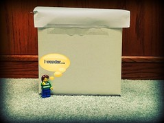 """Think Outside The Box"" (LegoTechnical) Tags: outside funny lego box think the"