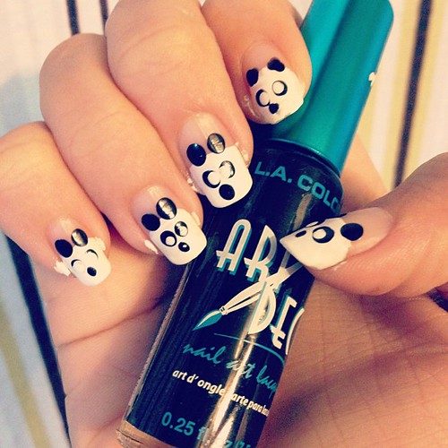 #pandanails #nailart #panda #nails #summer