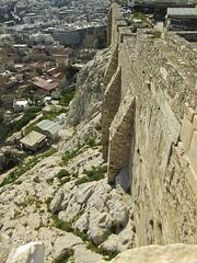 Acropolis Cliffs (kimindergand) Tags: temple ruins athens unesco worldheritagesite parthenon greece zeus acropolis ancientgreece greekgods greektemple mygearandme