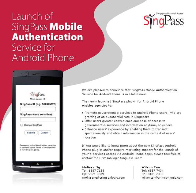 Android Singpass EDM