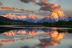 First Blush (dbushue) Tags: morning trees mountains clouds sunrise reflections river dawn spring nikon peaceful tranquility calm snakeriver serene wyoming wakeup snowcovered grandtetonnationalpark coth gtnp oxbowbend supershot naturesgarden firstblush absolutelystunningscapes d7000 damniwishidtakenthat flickrclassique coth5 photocontesttnc12 dailynaturetnc12 sunrays5 tpslandscape