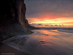 Soul searching (Dave Arnold Photo) Tags: ocean park longexposure sunset sea cliff usa cloud beach oregon reflections coast us photo timelapse state pacific image or tide arnold picture pic photograph pacificnorthwest cape oregoncoast peninsula ore tranquil pacificcoast cliffface pacificcity capekiwanda kiwanda lincolncounty davearnold centraloregoncoast tillamookcounty davearnoldphotocom mygearandme waterninmotion