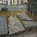 Old gravestones in the courtyard of Nicolae Negustori Church (1726), Bucharest