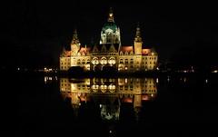 Rathaus Hannover bei Nacht (elke.kemna) Tags: rathaushannover