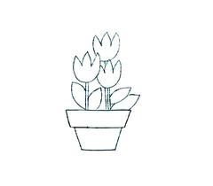 Risco Vaso com flores (Acrilex) Tags: