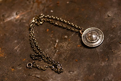 Handmade Christmas Present (zeon7) Tags: christmas metal silver handmade jewellery chain cast metalwork copper present protection craftwork moulded buckler
