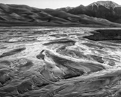 Medano Creek B&W-1 (enjoiskate8) Tags: bw mountains spring colorado may greatsanddunes 2016 medanocreek