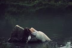 Fallen memories (Sus Blanco) Tags: selfportrait water fineart lagoon conceptual feelings