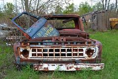 Door Holder (timmerschester) Tags: door old canada truck vintage rust rusty