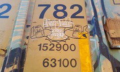 SOBER & HINDUE (BLACK VOMIT) Tags: car train graffiti streak box oil boxcar hindu sober freight wh gtb moniker a2m hindue hindueoner