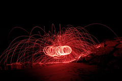 (sarahpadoan) Tags: red italy test black night nikon exposure italia experiment experience passion 1855mm chioggia veneto steelwool d3100 nikontop sarahpadoanphotography